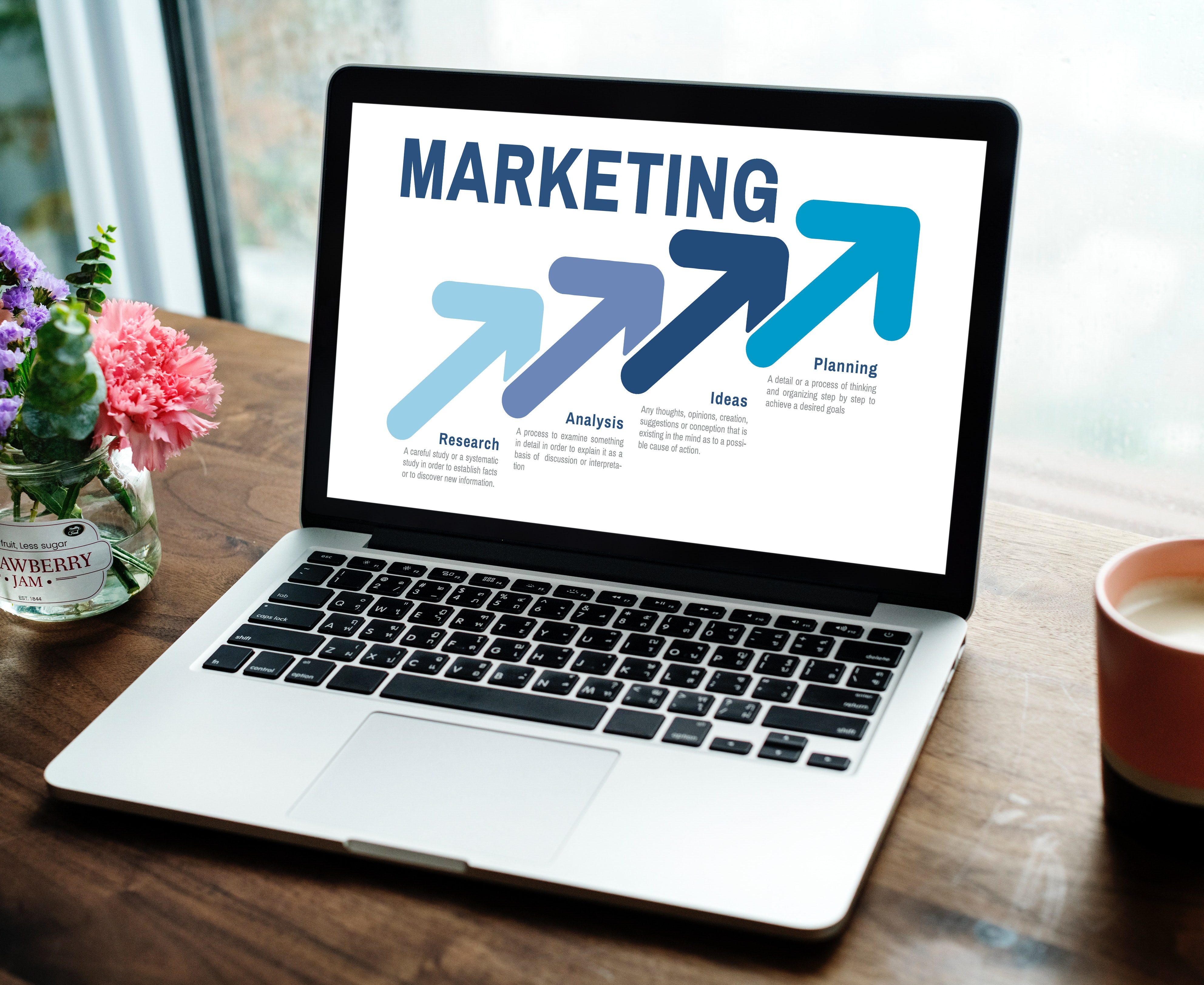Clear marketing plan outline