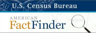 US Census Bureau American Fact Finder Research Platform