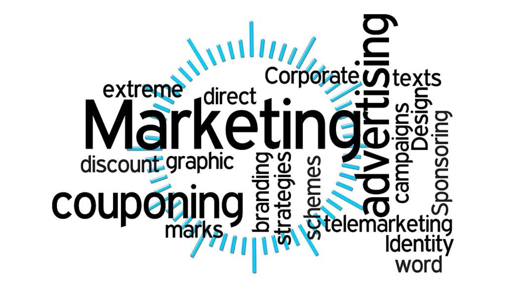 Marketing campaign related word cloud